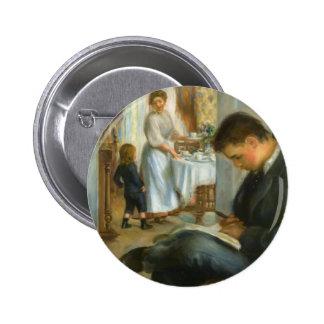 Pierre-Auguste Renoir- Frühstück bei Berneval Anstecknadelbutton