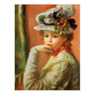 Pierre-Auguste Renoir- junges Mädchen in einem Postkarten