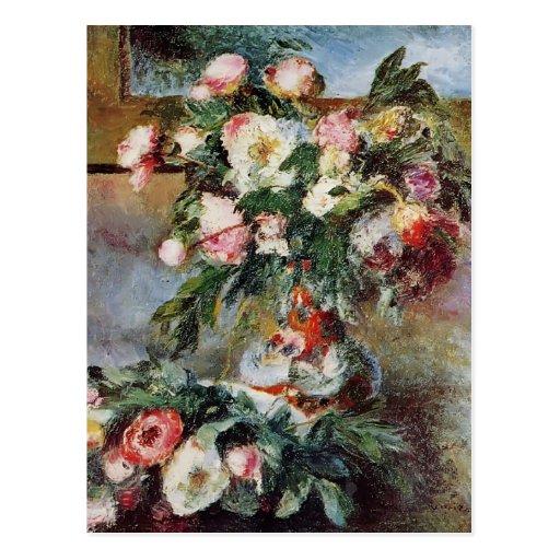 Pierre-Auguste Renoir- Pfingstrosen Postkarte