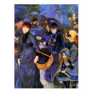 Pierre-Auguste Renoir- Regenschirme Postkarte