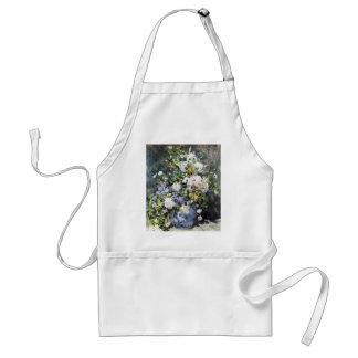 Pierre-Auguste Renoir Vase Blumen Schürze