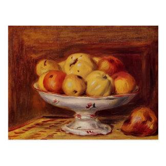 Pierre-Auguste Stillleben mit Äpfeln und Birnen Postkarten