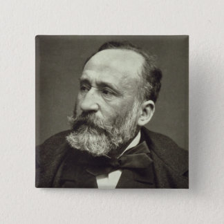 Pierre Cecile Puvis de Chavannes (1824-98), von ' Quadratischer Button 5,1 Cm