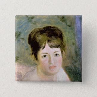 Pierre der Kopf einer Renoir | Frau Quadratischer Button 5,1 Cm