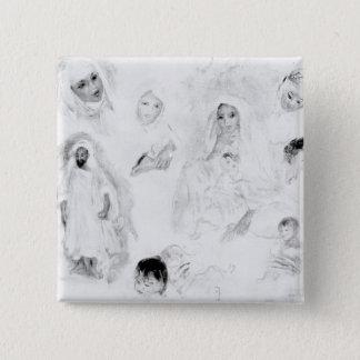 Pierre ein Renoir | Araber Quadratischer Button 5,1 Cm