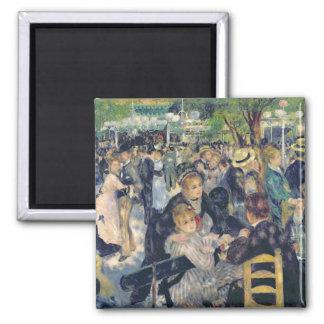 Pierre ein Renoir | Ball bei Moulin de la Galette Quadratischer Magnet