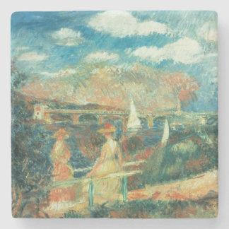 Pierre ein Renoir | Banken der Seines in Steinuntersetzer