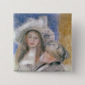 Pierre ein Renoir | Berthe Morisot und ihre Quadratischer Button 5,1 Cm