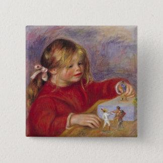 Pierre ein Renoir | Claude Renoir am Spiel Quadratischer Button 5,1 Cm