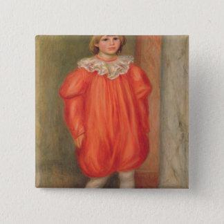 Pierre ein Renoir | Claude Renoir in einem Quadratischer Button 5,1 Cm