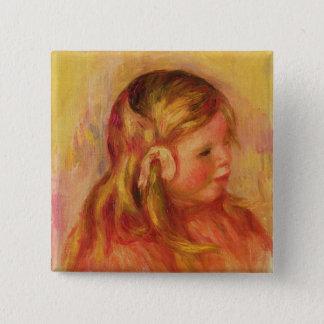 Pierre ein Renoir | Claude Renoir Quadratischer Button 5,1 Cm