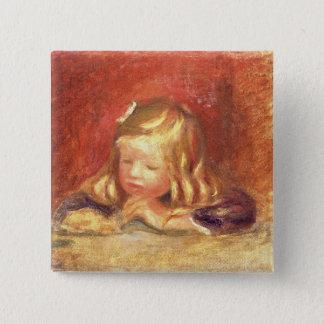 Pierre ein Renoir | Coco am Tisch Quadratischer Button 5,1 Cm