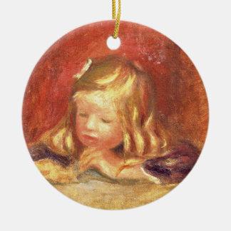 Pierre ein Renoir | Coco am Tisch Rundes Keramik Ornament
