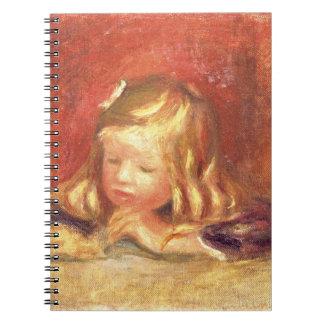 Pierre ein Renoir | Coco am Tisch Spiral Notizblock