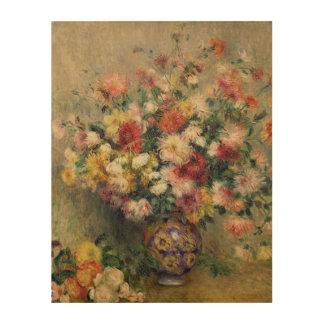 Pierre ein Renoir | Dahlien Holzwanddeko