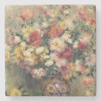 Pierre ein Renoir | Dahlien Steinuntersetzer