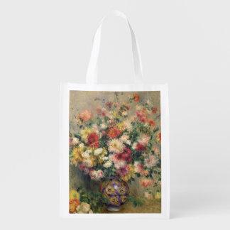 Pierre ein Renoir | Dahlien Wiederverwendbare Einkaufstasche