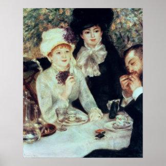 Pierre ein Renoir | das Ende des Mittagessens Poster
