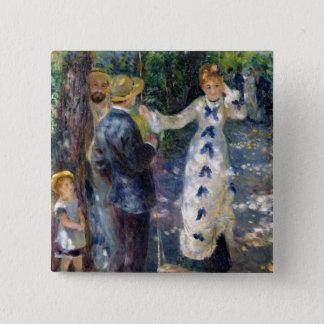 Pierre ein Renoir   das Schwingen Quadratischer Button 5,1 Cm