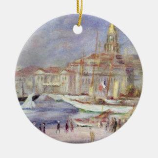 Pierre ein Renoir | der alte Hafen von Marseille Keramik Ornament