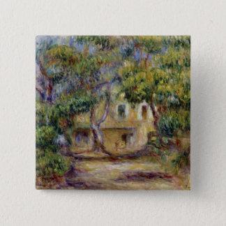Pierre ein Renoir | der Bauernhof bei Les Quadratischer Button 5,1 Cm