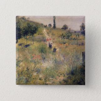 Pierre ein Renoir | der Weg durch das lange Gras Quadratischer Button 5,1 Cm