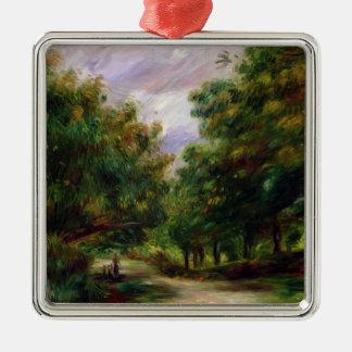 Pierre ein Renoir | die Straße nahe Cagnes Quadratisches Silberfarbenes Ornament