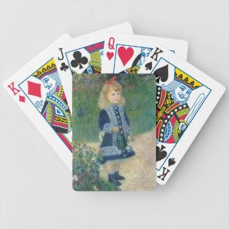Pierre ein Renoir | ein Mädchen mit einer Bicycle Spielkarten