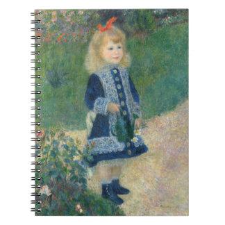 Pierre ein Renoir   ein Mädchen mit einer Spiral Notizblock
