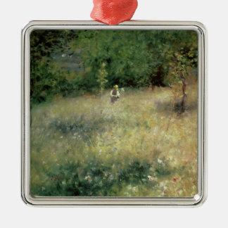 Pierre ein Renoir | Frühling bei Chatou Quadratisches Silberfarbenes Ornament