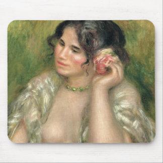 Pierre ein Renoir | Gabrielle mit einer Rose Mousepad