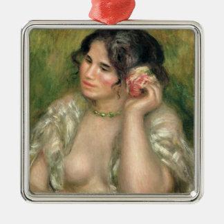 Pierre ein Renoir | Gabrielle mit einer Rose Silbernes Ornament