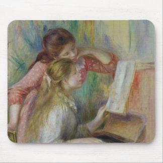 Pierre ein Renoir | junge Mädchen am Klavier Mauspad