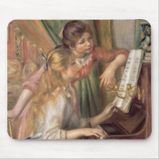 Pierre ein Renoir | junge Mädchen am Klavier Mauspads
