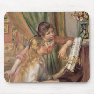 Pierre ein Renoir | junge Mädchen am Klavier Mousepad