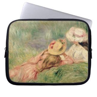 Pierre ein Renoir | junge Mädchen auf dem Laptopschutzhülle