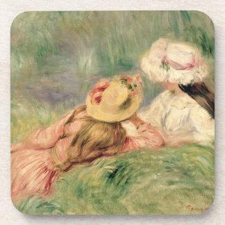 Pierre ein Renoir | junge Mädchen auf dem Untersetzer