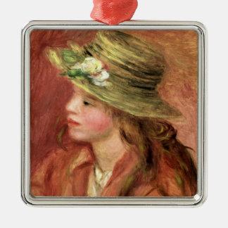 Pierre ein Renoir   junges Mädchen in einem Silbernes Ornament
