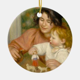 Pierre ein Renoir | Kind mit Spielwaren Keramik Ornament