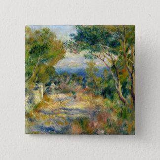 Pierre ein Renoir | L'Estaque Quadratischer Button 5,1 Cm