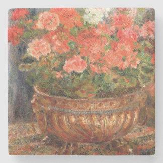 Pierre ein Renoir | Pelargonien in einem kupfernen Steinuntersetzer