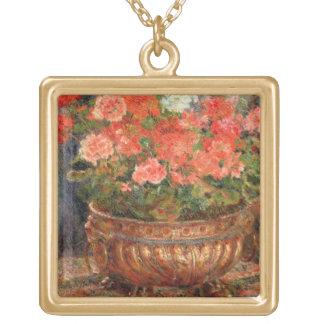 Pierre ein Renoir | Pelargonien in einem kupfernen Vergoldete Kette