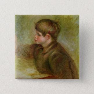 Pierre ein Renoir | Porträt der Cocos Quadratischer Button 5,1 Cm
