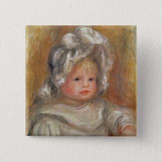 Pierre ein Renoir | Porträt eines Kindes Quadratischer Button 5,1 Cm