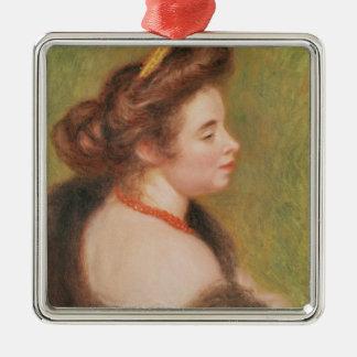 Pierre ein Renoir | Porträt von Frau Maurice Denis Silbernes Ornament