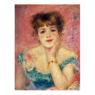 Pierre ein Renoir | Porträt von Jeanne Samary Postkarte