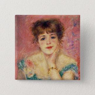 Pierre ein Renoir | Porträt von Jeanne Samary Quadratischer Button 5,1 Cm