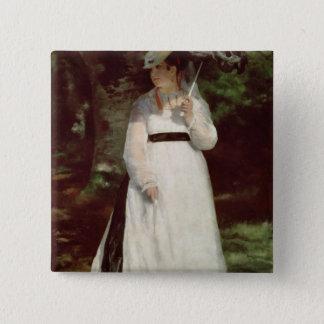 Pierre ein Renoir | Porträt von Lise Quadratischer Button 5,1 Cm