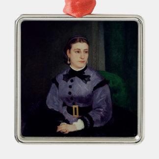 Pierre ein Renoir | Porträt von Mademoiselle Sicot Silbernes Ornament