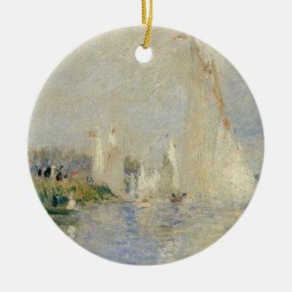 Pierre ein Renoir   Regatta in Argenteuil Keramik Ornament